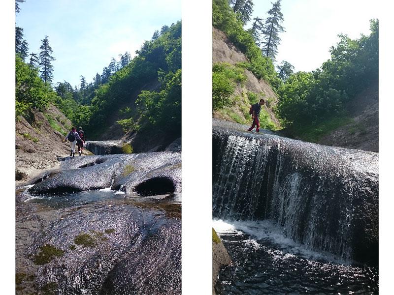 滝のように段差があるところダイナミックな光景