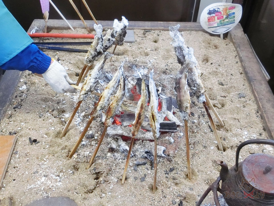 岩魚の炭火焼