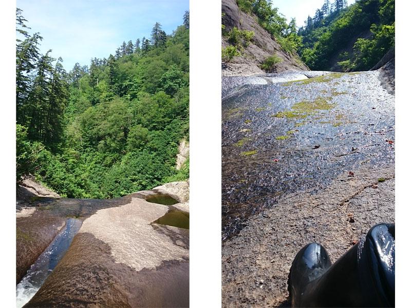 滝の上の方から撮った写真